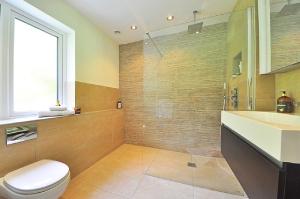 Clean contemporary bathroom-Bathroom design Ideas-Richardson Custom Homes-Fort Myers-300x199