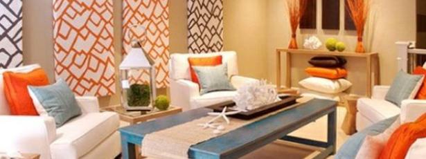 Contemporary Living room with pops of orange-Richardson Custom Homes-Fort Myers-615x230jpg